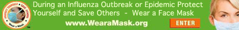 WearaMask.org encourages people to wear a FDA approved face mask during the Swine Flu pandemic.